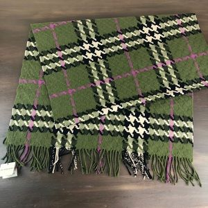 RARE Burberry Check Wool Cashmere shawl/wrap/scarf